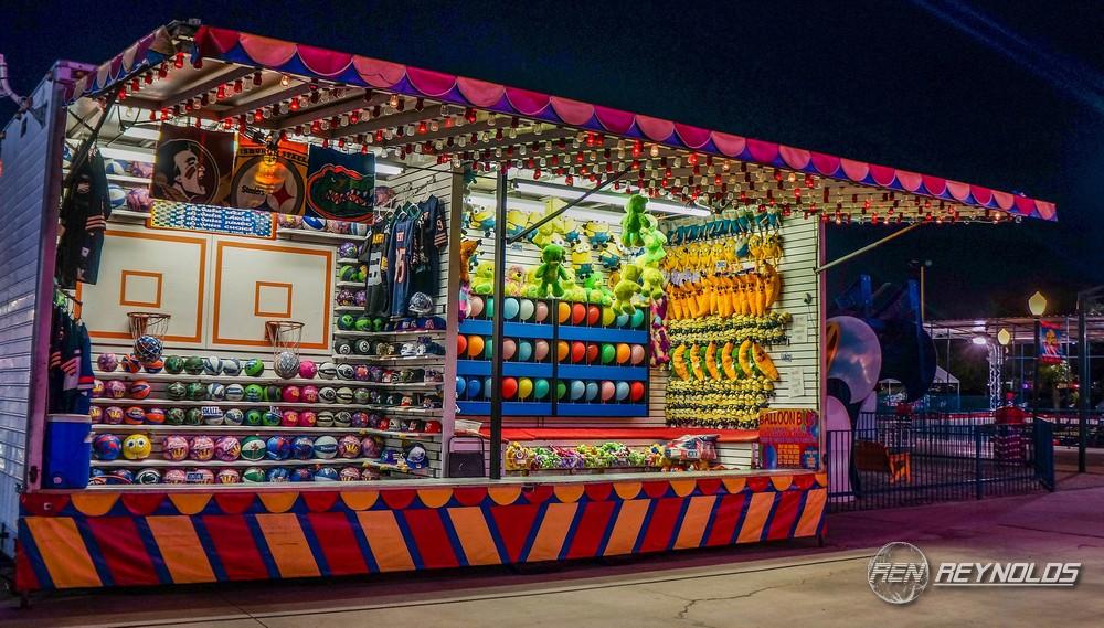 Arcade game in amusement park