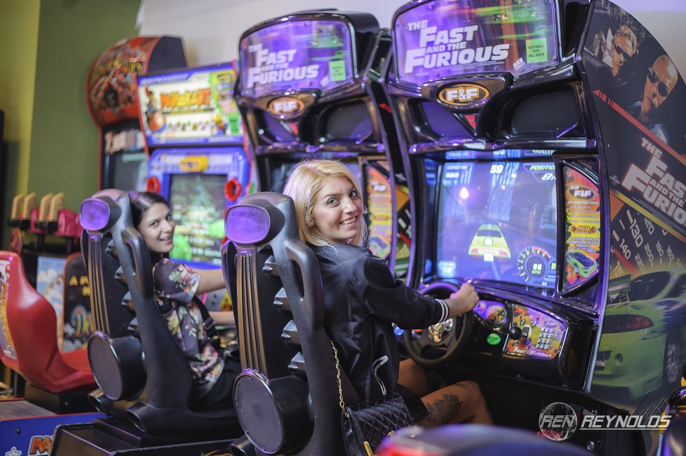 Arcade game players