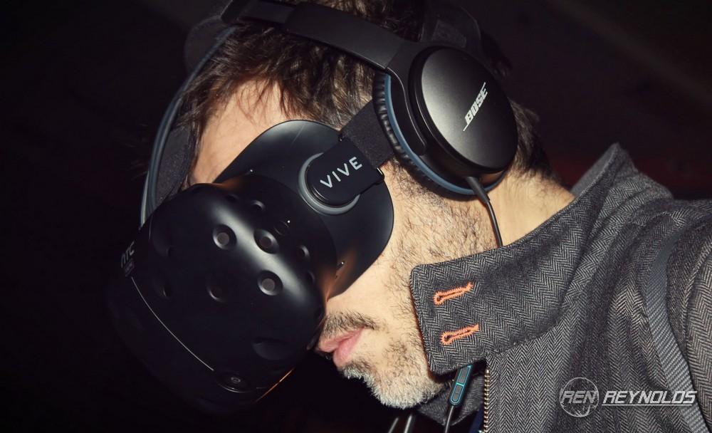 Man using VR headset